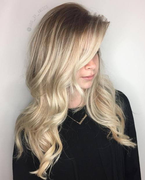 Ilgai Layered Blonde Balayage Hair