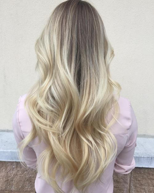 Ilgai Platinum Blonde Balayage Hair