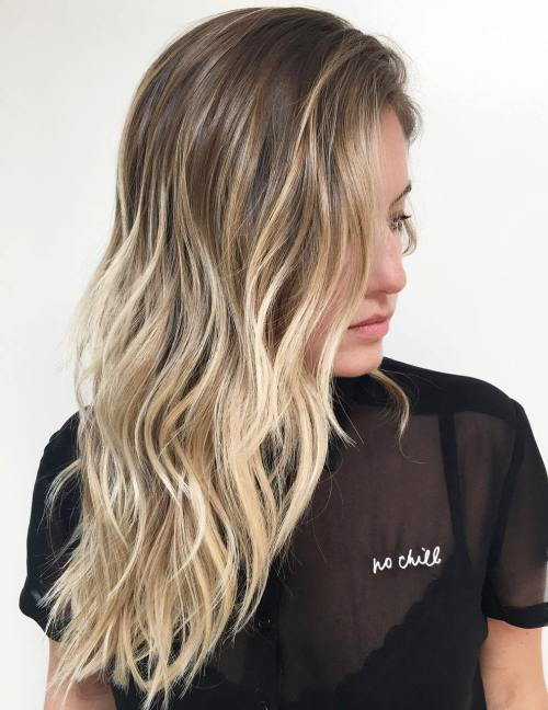 Ruda To Blonde Layered Balayage Hair
