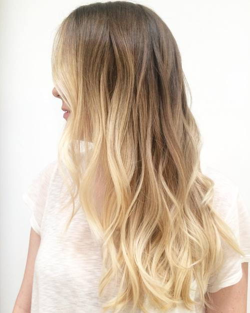 blonde wavy ombre hair