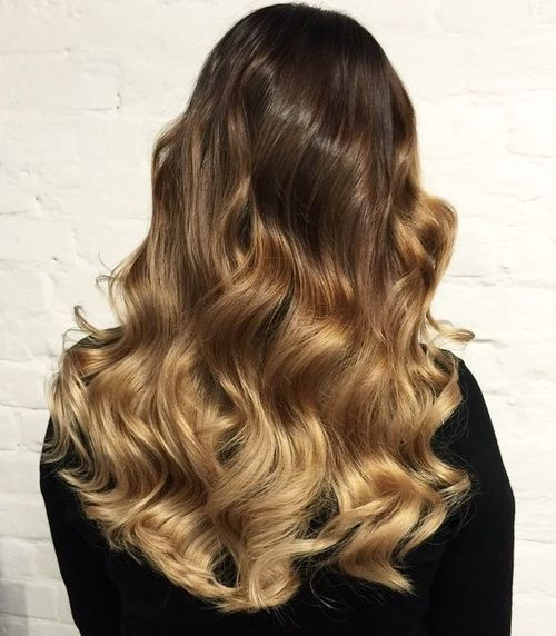 ruda to golden blonde ombre