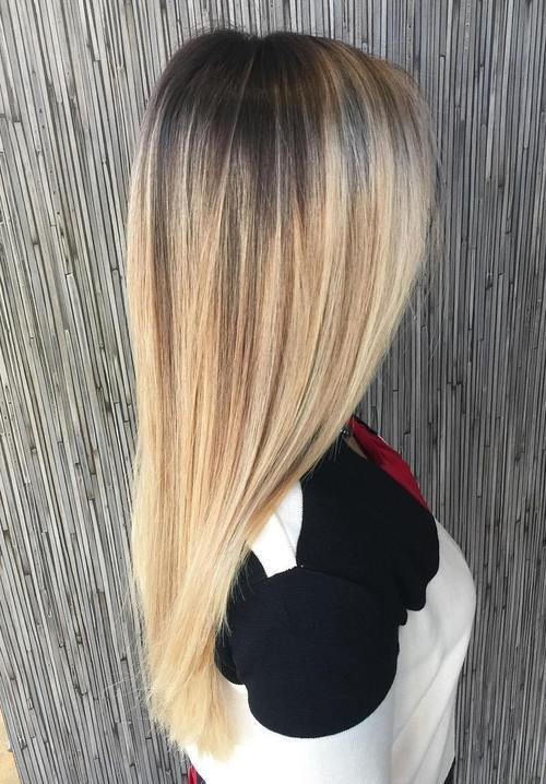 ilgai straight blonde balayage hair