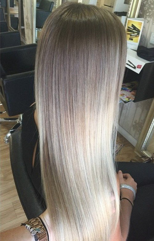 ruda to ash blonde ombre