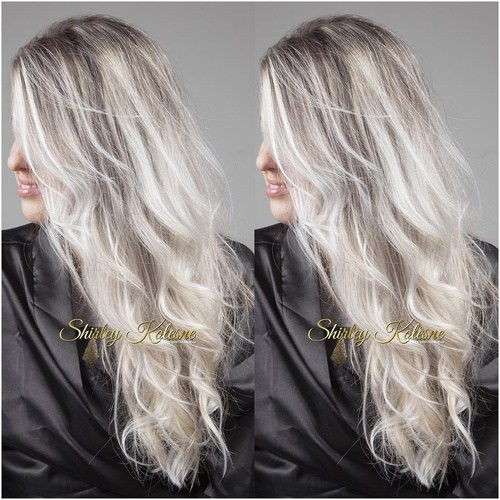 pelenai blonde hair with dark roots