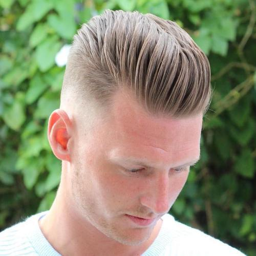 Plavuša Long Top Short Sides Hairstyle
