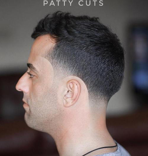 Muška Cut With Temple And Nape Fade