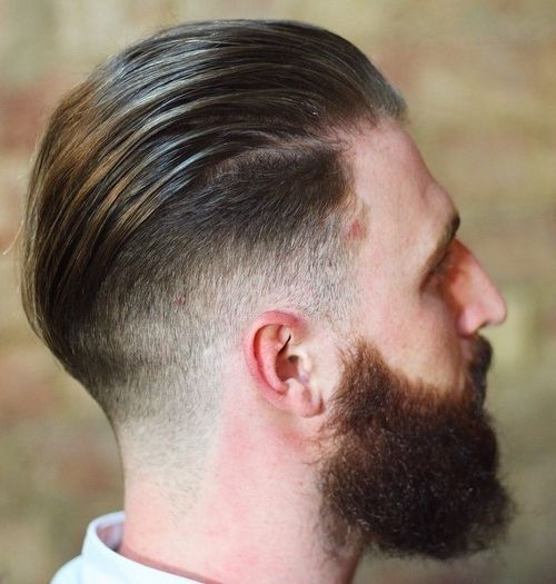 dugo top short sides and full beard
