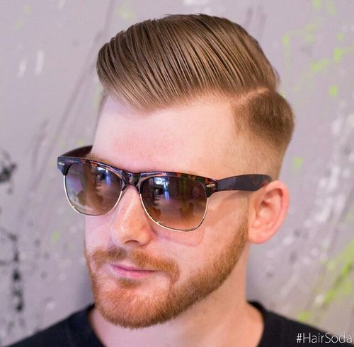 strana parted long top fade for men