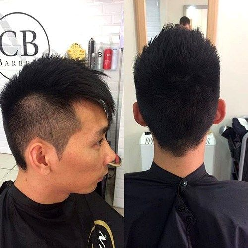 אסיה men undercut hairstyle