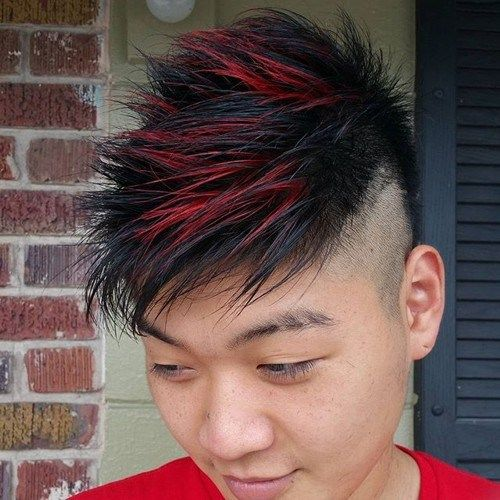 דוֹקְרָנִי Asian men hairstyle with highlights
