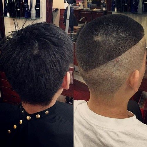 חֲצִי shaved extra short men's haircut