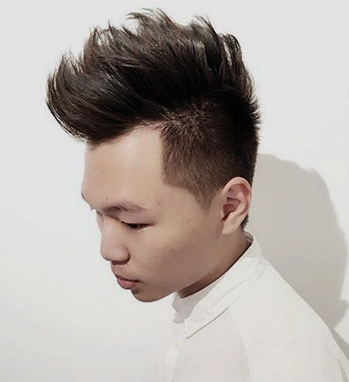 ארוך top short sides men's hairstyle