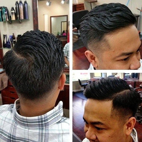קלַאסִי tapered haircut for men