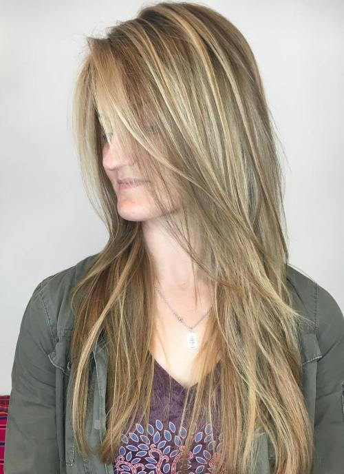 Ravno Fine Brown Hair With Blonde Highlights