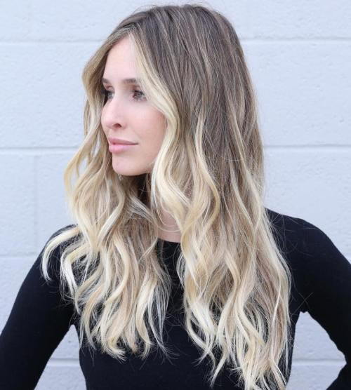 smeđ Blonde Balayage For Long Hair