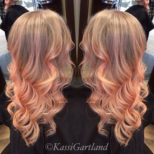 pastel strawberry blonde hair color