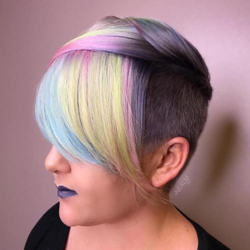 Kratak Undercut Hairstyle For Pastel Hair