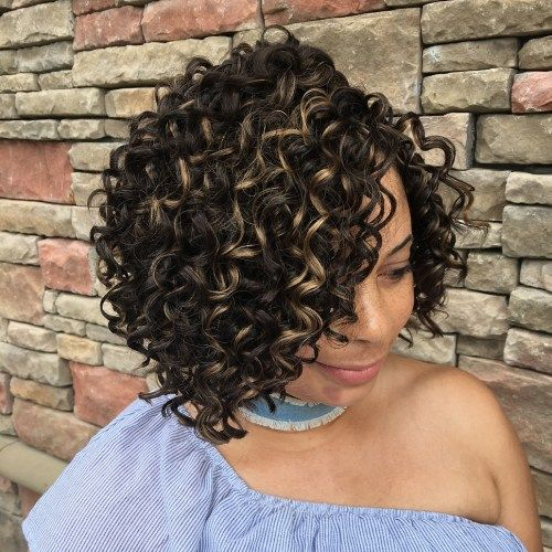 Side-rastali Curly Crochet Bob