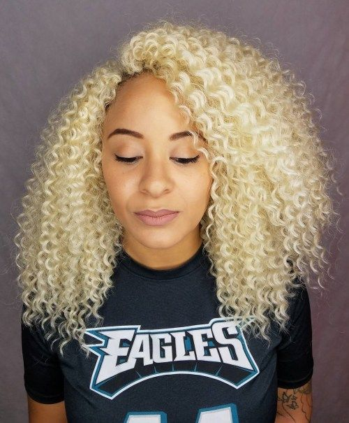 Srednji Natural Blonde Hairstyle Crochet