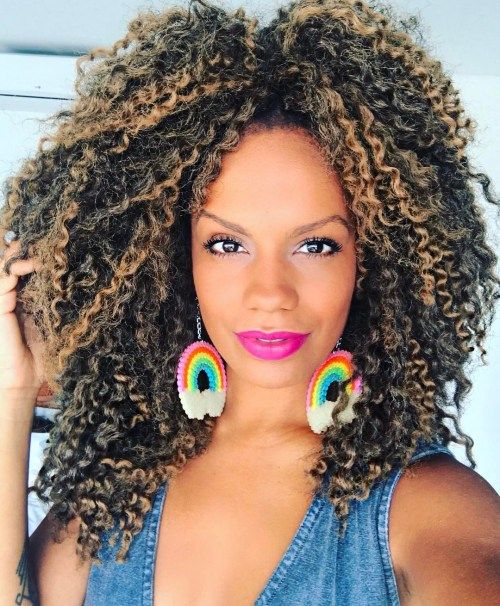 Srednji Curly Crochet Hairstyle