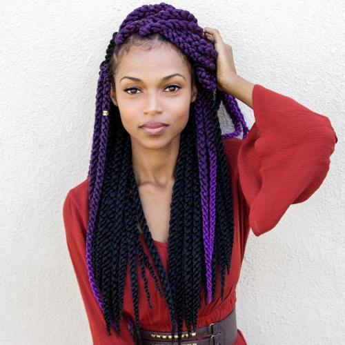 Crno And Purple Yarn Braids