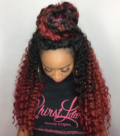 Pola Updo For Long Crochet Braids