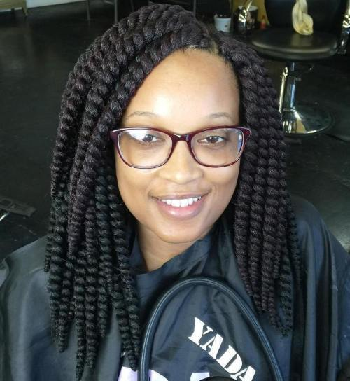 Srednji Lenght Thick Crochet Twists