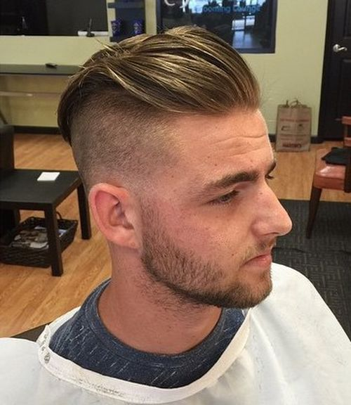 ארוך top short sides hairstyle for men