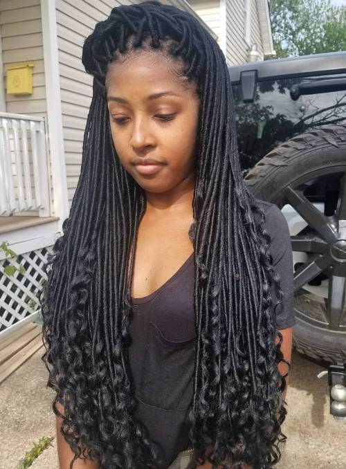 Ilgai Faux Locs With Curled Ends
