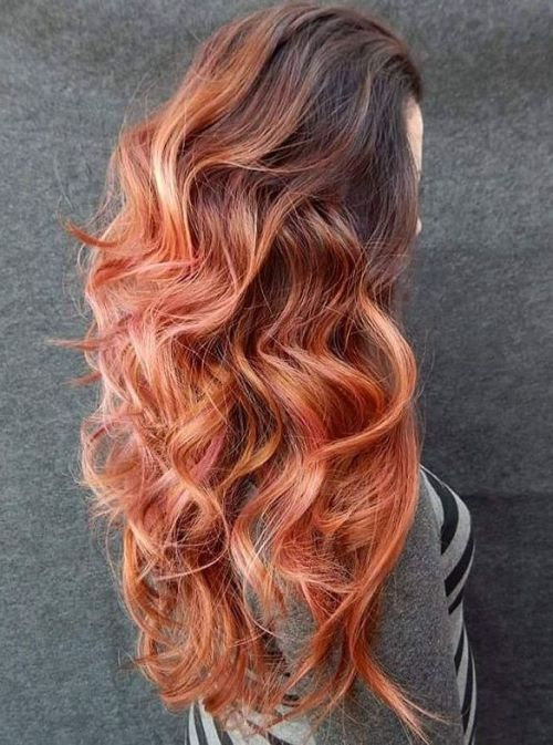 Ilgai Copper Hair With Brown Roots