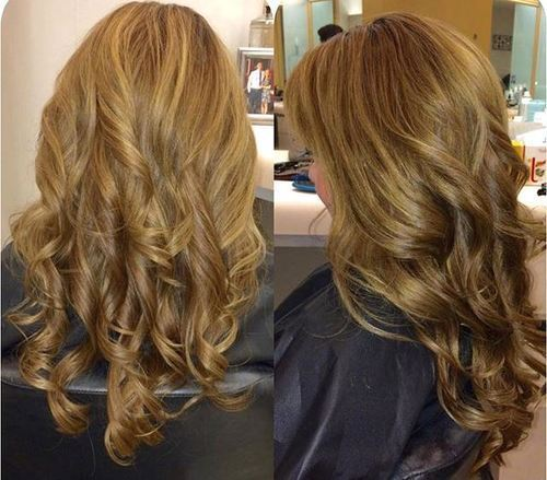 ruda blonde curly hairstyle