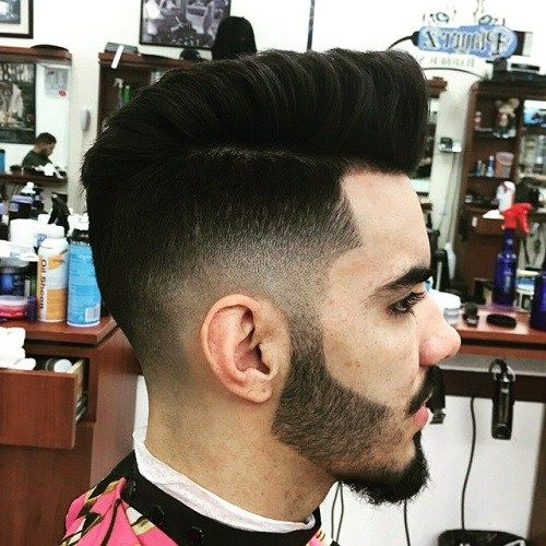 vyrai faux hawk with side and back fade