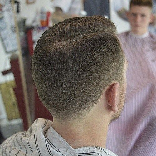 vyrai's tapered side part haircut