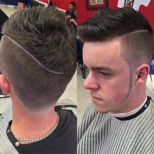 pusė part hairstyle with long top for men