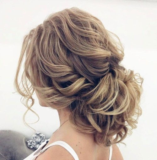חֲתוּנָה Loose Curly Updo For Long Hair