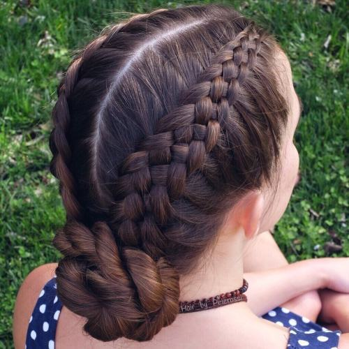 5-Strand Braids With Twisted Low Bun