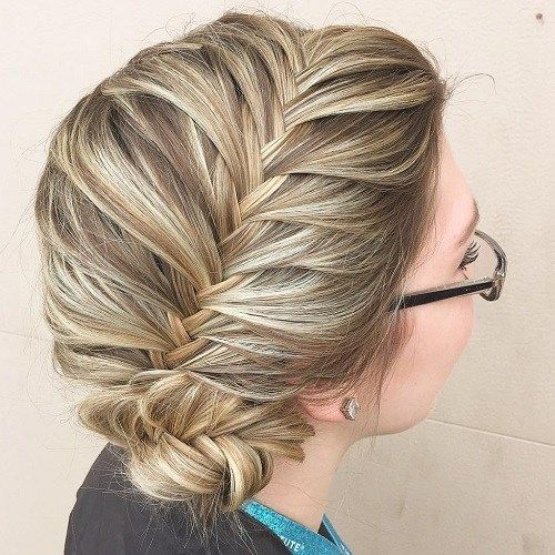 צַד Braided Bun Updo