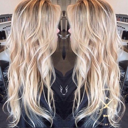 dugo wavy blonde hairstyle for thin hair