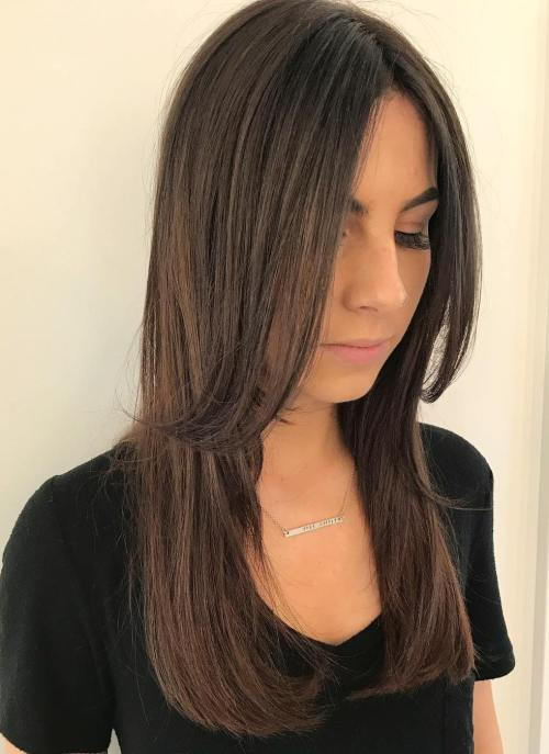 Centar-rastali Layered Cut For Long Hair