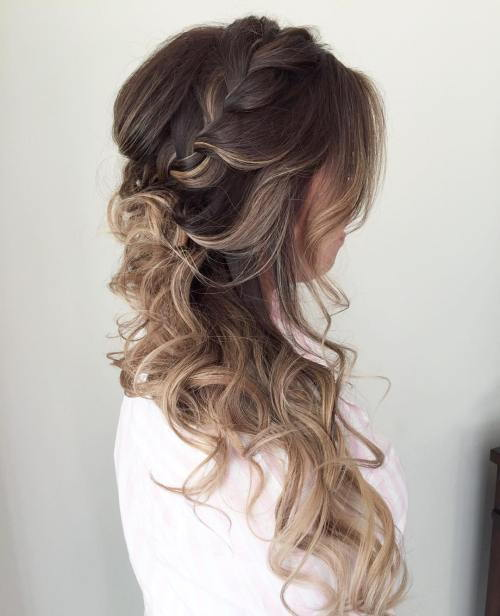 Strana Hairstyle With A Braid For Long Hair