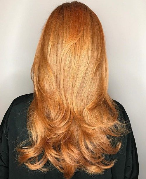 dugo Strawberry Blonde Hairstyle With Layers