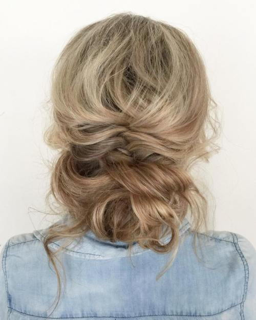 u neredu Updo With A Braid And Bun