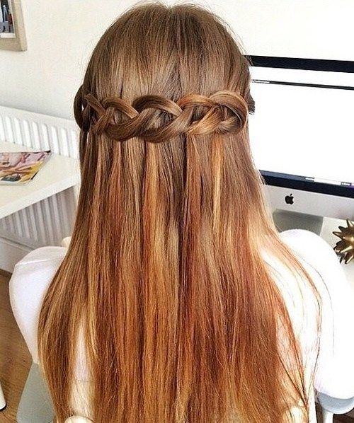 pola up braided hairstyle for long hair