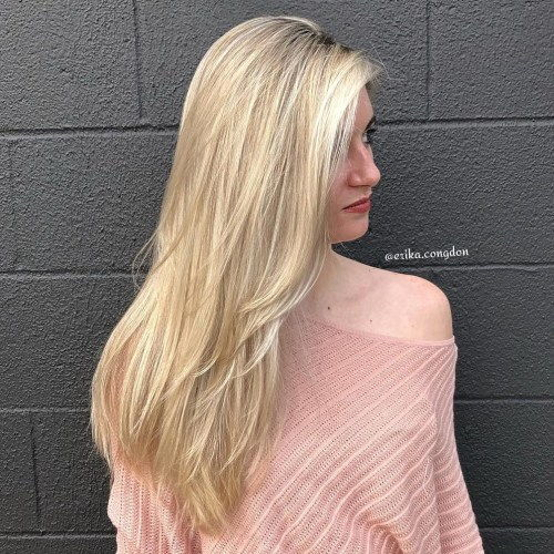 dugo Blonde Hairstyle With Layers