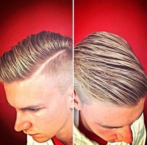 gelirani side parted shaved sides hairstyle for men