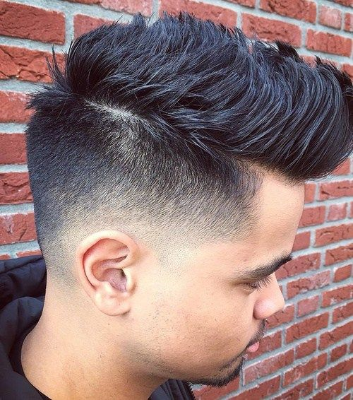 fauxhawk with back and side fade
