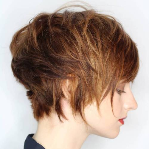 Ilgai Brown Pixie With Highlights