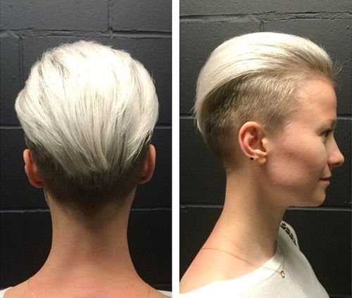 moterys's two-tone undercut hairstyle