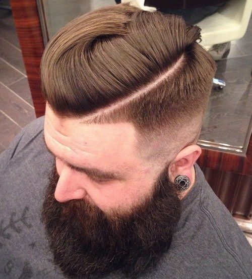 Hipster Taper With Shaved Side Part