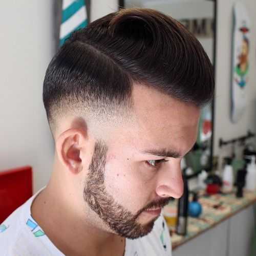 formalus long top short sides hairstyle for men